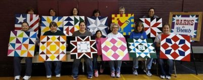 Picture of people at Barns and Brews Barn Quilt Painting class