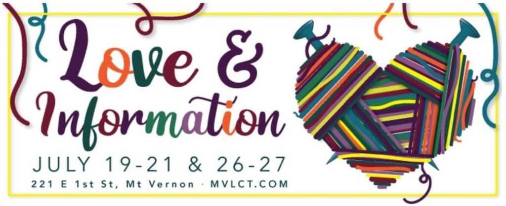 "Logo for the play ""Love and Information"""
