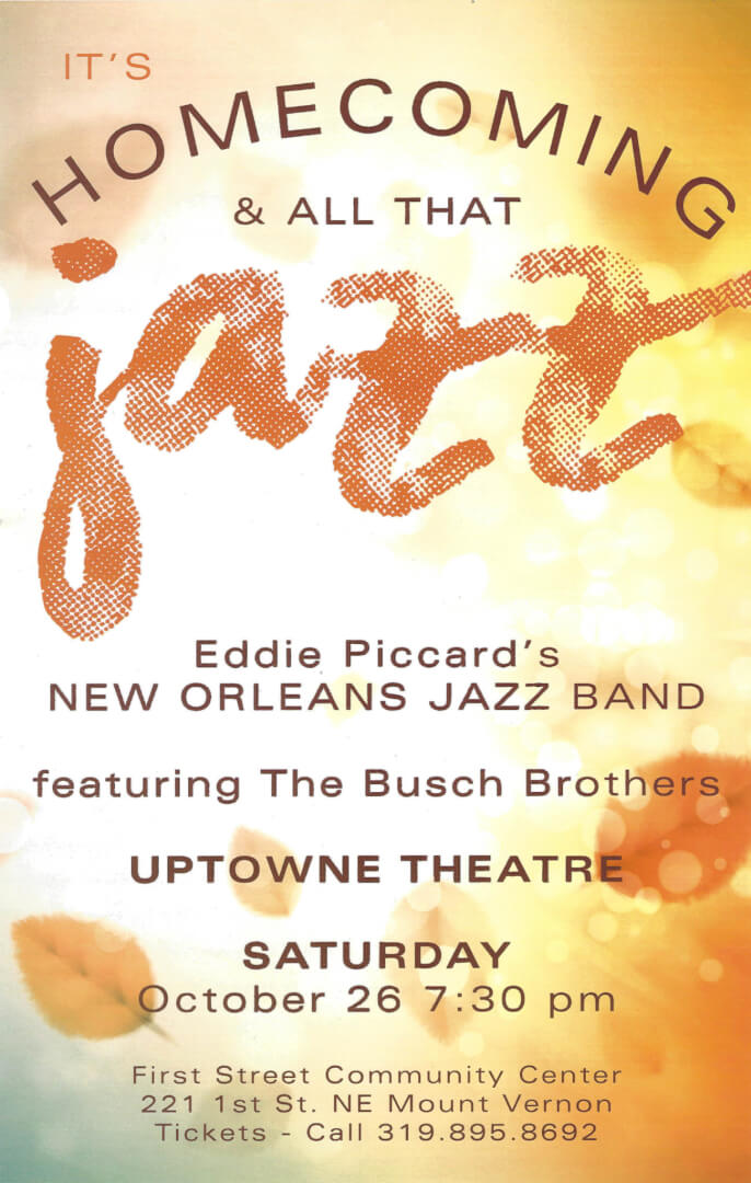 poster for the Eddie Piccard Jazz concert
