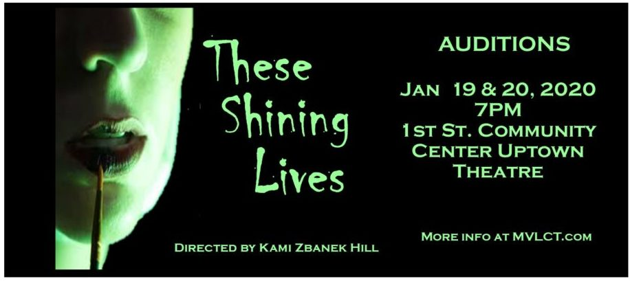 Poster image for the Shining Lives audtions