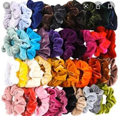 a bunch of scrunchies